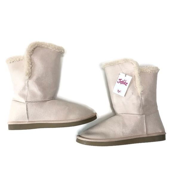 Girls Justice Boots Sherpa Lined